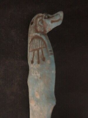 Rare Large Ancient Egyptian Anubis Pendant 26th DYN 680 BC 5