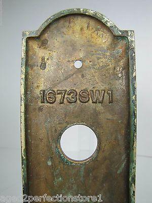 Antique Elevator Panel Up Down Bronze Brass bevel edge deco ornate orig embossed 6