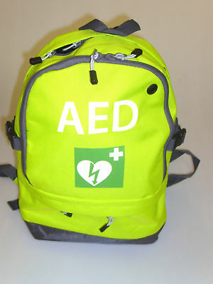 Defib/AED Emergency Carry Bag Rucksack In Lime Green Or Red 5