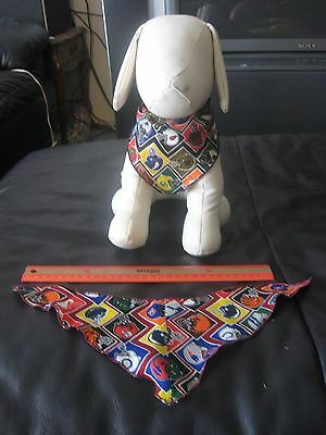 100 Dog Grooming BANDANAS finished edge  S   M   L  Pet Scarf everyday Tie On