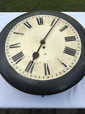 "antique Chain Fusee Dial Clock with an  18""all metal Dial with clen movement 2"