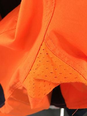 5 x Hi Vis Work Shirt vented cotton drill long sleeve SAFETY WORKWEAR UNIFORM 4
