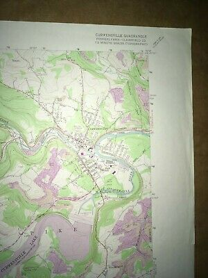 Curwensville Pa. Clearfield USGS Topographical Geological Survey Quadrangle Map 3