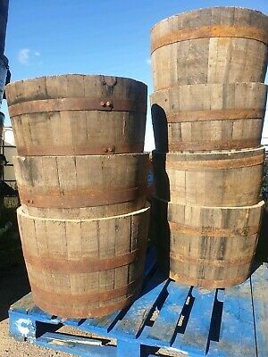 Large Whisky Barrel oak planter/tub 6
