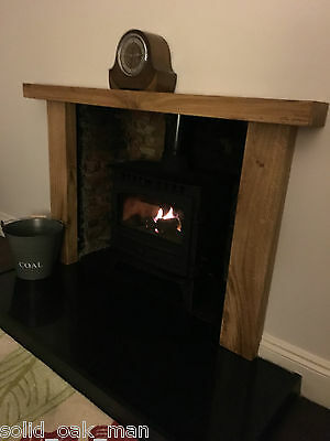 Fire Surround, solid rustic oak beam, MADE TO MEASURE oak fireplace surround 4