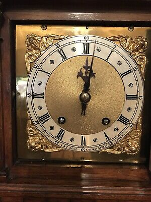 Antique Bracket Clock Winterhalder & Hofmeier Ting Tang Clock 7