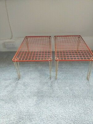 RARE Old Vintage Camper van/Retro midcentury fold away stacking shelves. 2