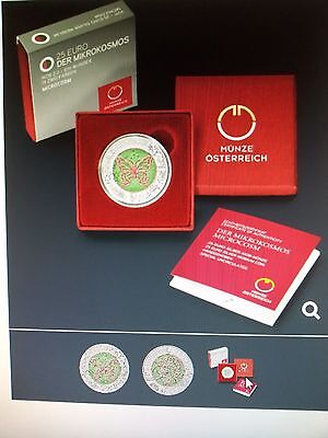Der Mikrokosmos Österreich 25 Euro 2017 Silber Niob Münze Eiamaya 3