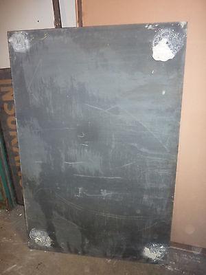 "antique ORIGINAL circa 1920's schoolhouse SLATE chalkboard 62.5"" x 42"" UTICA, NY 9"