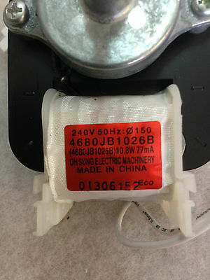 Westinghouse Fridge Condenser Fan Motor Rs825S Rs592V Ne820F Ss570A Rs612V 5