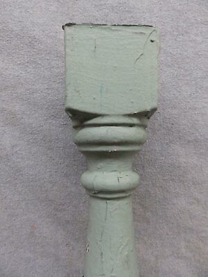 1 Antique Turned Wood Spindle Porch Baluster Thick Old Vtg Architectural 540-17R 3