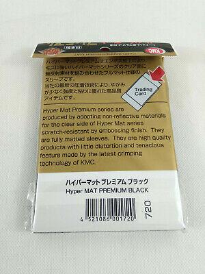 80 KMC Hyper Mat Premium Black Sleeves Protege cartes 66x91mm Envoi rapide suivi
