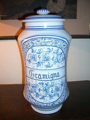 Deruta - Apotheker Vasen Majolika italienische Keramik handgemalt Paar 6