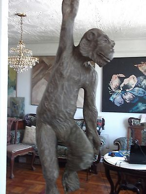rare antique /vintage very large hand carved monkey 10