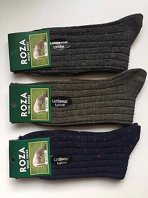 6 pairs LADIES HIGH QUALITY CHUNKY THERMAL WOOL SOCKS HIKE BOOT 4-7 HKMFDMD