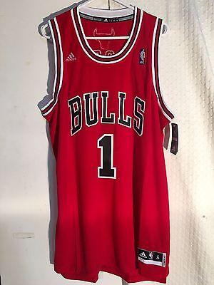 460e5c8b1 ... Adidas Swingman NBA Jersey Chicago Bulls Derrick Rose Red sz XL 2