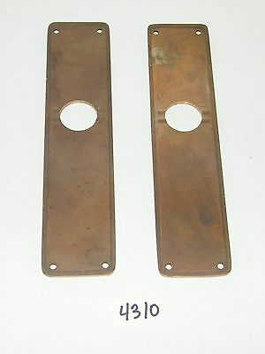 2 Solid Brass Door Lock Cylinder Plates 9 13/16 x 2 1/4 3