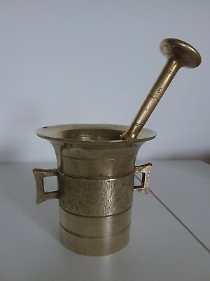 Antiker Apothekenmörser mit Pistill - BRONZE- 19.Jahrhundert / BIEDERMEIER 4