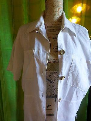XL belle veste blanche en lin  femme ou longue mariniére 6