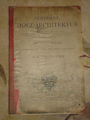 Gothische Holz-Architektur 1870 German Gothic Architecture Folio Huge 48 Plates 2