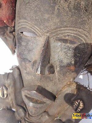 EXTRAVAGANT Dan Gioh Ceremonial Mask Figure Sculpture Statue Fine African Art 4