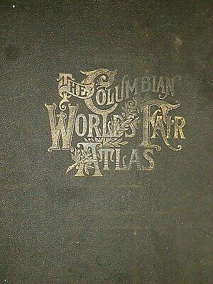 Vintage 1893 Map ~ MICHIGAN ~ Old Antique Original Atlas Map - Quick N Free 2