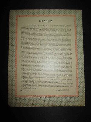 ancien cahier P.L.M. train chemin de fer Besançon fin XIX ème 3