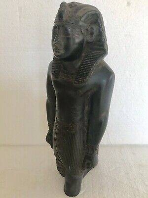 ANCIENT EGYPTIAN ANTIQUE Bronze Pharoh Signed Adele 5