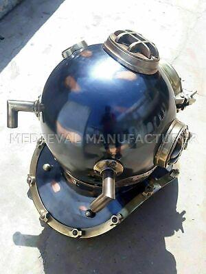 "Antique 18"" Diving vintage BOSTON MARK V U.S Navy Deep Sea Divers Helmet Replica 2"