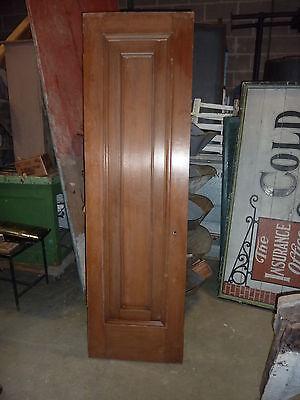 """c1902 antique MAHOGANY door BEAUX ARTS mansion 81.5 x 24 x 1.75"""" original FINISH 9"""