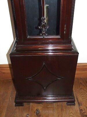 Antique Musical Chiming Mahogany Longcase Grandfather Clock LISTER & SONS 9