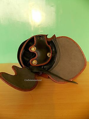 Medieval Leather Roman Centurion Imperial Armor Helmet & Gold Plume For Larp Sca 3