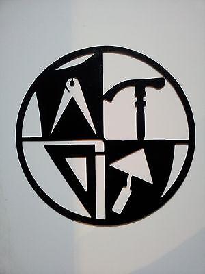 MAURER Zunftzeichen RUND aus 3mm STAHL, 40cm, Innungsschild Handwerkszeichen, 5