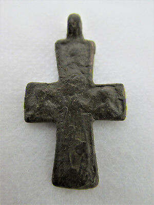 Authentic Antique Byzantine Bronze Cross circa 9th - 12th century