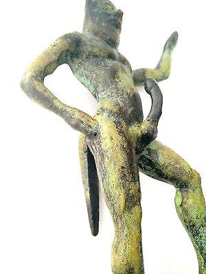Ancient Greek Bronze Museum Mythology Statue Replica Satyrus Satyr Pan Dionysus 7