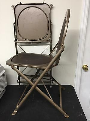 Steel Vintage 50s 1950s Folding Utilitarian Chair Chairs 5