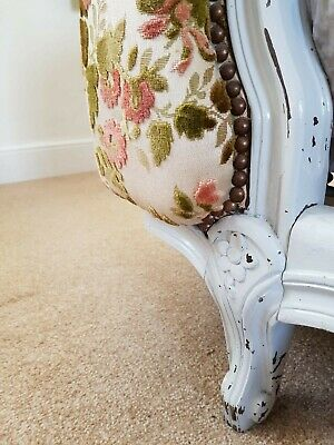 Antique French Corbielle Upholstered Double Bed 6