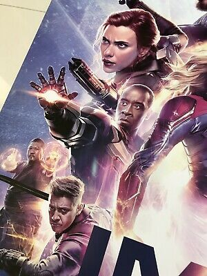 *Ultra Rare* Avengers End Game | original DS one sheet movie poster 27x40 IMAX 6