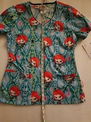 Kid/'s Boy/'s Cherokee Uniform Retro Marvel Comics scrub top pants Pajama Set L