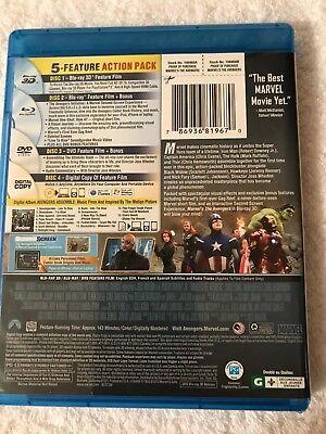 The Avengers (Blu-ray 3d DVD, 2012, 4-Disc Set 4