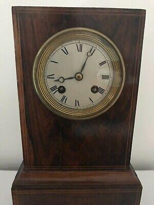 Handsome 19th century clock, library clock or mantel clock 2
