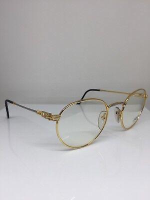 f0d601c8ef ... New Vintage FRED Lunettes Ouragan Gold Bicolore JJ C. 001 Eyeglasses  53mm France 4