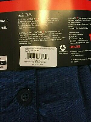 NWT Men's Hanes Woven Pant Shirt Set Pajamas PJ Cotton Blend Blue Stripe Various 10