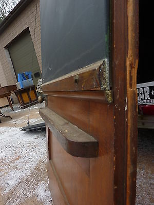 early 20th century schoolhouse SLATE chalkboard salvaged DOOR & FRAME 65 x 30.5""