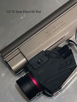 Combo Pistol LED Flashlight Red Laser Sight Fits 20mm Rail Pistol-Rifle 10