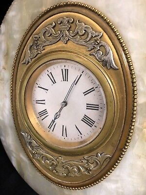 Antique Onyx & Gilt Ormolu 8 Day Mantel Bracket Easel Clock ROBINSON SHREWSBURY 4