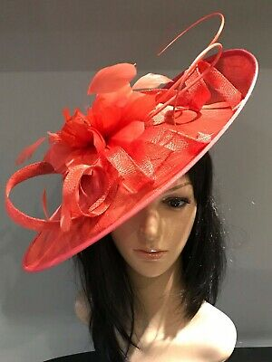 YELLOW AND NAVY WEDDING ASCOT DISC HATINATOR Mother Of The Bride Hat OCCASION 9