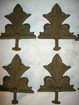 8 Antique Architectural Hardware Plant Flower Garden Cast Iron Fence Gate Fineal 4