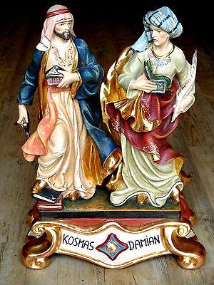 Kosmas & Damian Skulptur Holz/ woodcarving Apotherker, Figuren 2