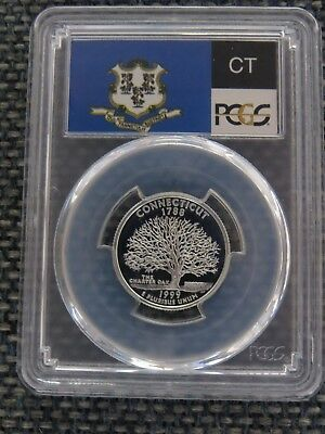 1999 S SILVER QUARTER 25C NEW JERSEY PCGS PR69DCAM AAA